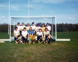Jen Clark in the early 1980s. Jen is in the back row, 2nd on the left.